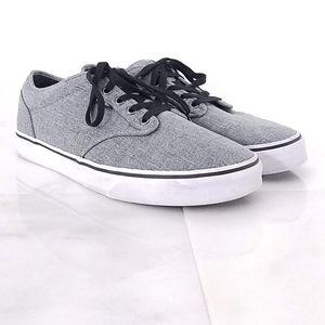 Vans Mens 11 Low Tops Skater Shoes Gray & Black